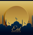 elegant eid festival greeting card design vector image vector image