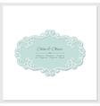 Elegant frame Wedding design vector image vector image