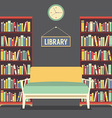 Empty Reading Seat In Library vector image vector image