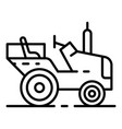 farm tractor icon outline style vector image vector image
