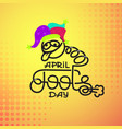first april fool day joke greeting card vector image