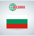 flag of bulgaria isolated on modern background vector image vector image