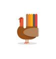 flat a turkey vector image vector image