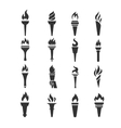 Games torch icons vector image