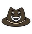 gentleman hat kawaii character vector image