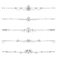 geometric arrow decorative elements border set vector image