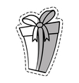 gift box ribbon parcel surprise linea shadow vector image vector image