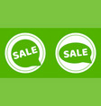 green sale stickers vector image