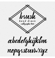 Hand drawn font handwriting brush It can be used vector image vector image