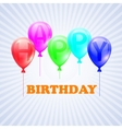 Happy Birthday of balloons with vector image vector image