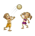 Happy Children playing with a Ball vector image vector image