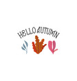 hello autumn handwritten modern brush calligraphy vector image vector image