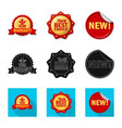 isolated object of emblem and badge sign set of vector image vector image