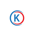 k company logo template design vector image vector image