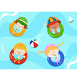 Kids enjoying water vector | Price: 3 Credits (USD $3)
