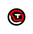 letter t g vector image
