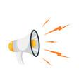 loudspeaker cartoon megaphone and noise vector image