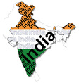 Map of India 1 vector image vector image