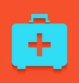 medical first aid box sign whitish icon vector image vector image