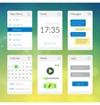 Mobile flat interface elements with colorful vector image