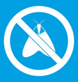 no moth sign icon white vector image vector image
