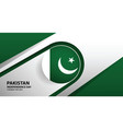 pakistan independence day background vector image vector image