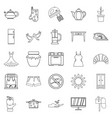 patriarch icons set outline style vector image
