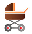pram flat icon baby carriage color icons in vector image vector image