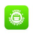 print photo studio icon green vector image