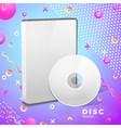 realistic disk box mockup abstract banner vector image vector image