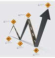 Road And Street Traffic Sign Arrow Diagram vector image