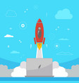 rocket startup business design concept vector image vector image