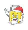 santa loch character cartoon style vector image