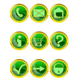 set 9 website icons vector image