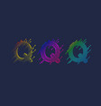 several variants one letter q latin vector image vector image