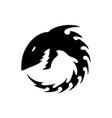 shark skleton logo vector image