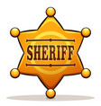 sheriff badge color design vector image vector image