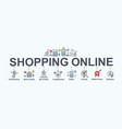 shopping online banner web icon set convenience vector image