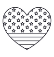 silhouette usa flag inside heart design