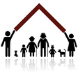 silhouettes family vector image