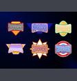 sport emblem typography set super hero logotype vector image vector image