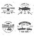 sport fishing club vector image