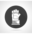 Sport glove black round icon vector image vector image