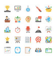 startup and new business flat set vector image vector image