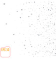 stock silver falling stars on a white background vector image vector image