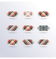 striped squares vector image vector image