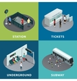 Subway Isometric Design vector image vector image