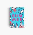 summer banner with geometrical pattern on vector image vector image