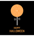Sweet candy lollipop with starburst pattern Black vector image vector image