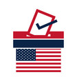 united states elections american flag voting vector image vector image